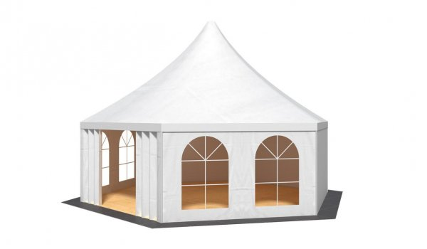 party tent holiday hexagonal 400 - 1.000 cm